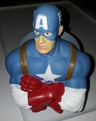 Captain America Figure Statue Bust Marvel Comics Piggy Coin Bank