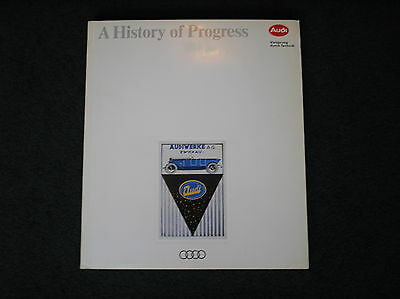 AUDI - A HISTORY OF PROGRESS produced by Audi themselves in 1992