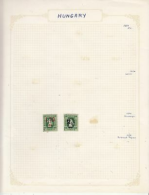 HUNGARY 1954 On Album Page Mostly VFU Items(a) removed for Shipping