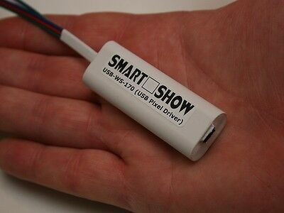 SmartShow USB-WS-170 : OpenEnttec-style USB-DMX Pixel Driver for WS2812 WS2801