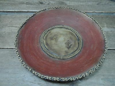 Stoneware Art Pottery Red and Black Bowl