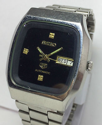 Genuine Vintage Seiko 5 Automatic 17 Jewels Day/date Men's Excellent Wrist Watch