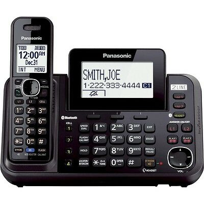 Panasonic 5 Handset Dect 6.0 Cordless Wireless Phone Telephone Answering System