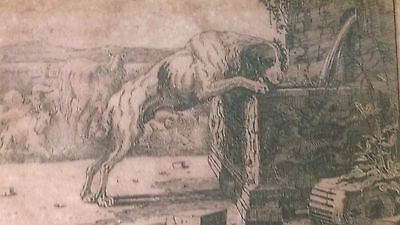 Authentic 17th C Engraving on Laid Paper after Nicolaes Pieterzs Bersham 1645
