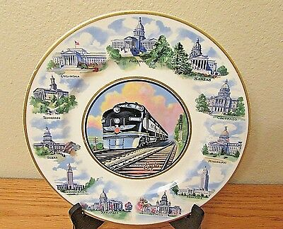 Collectible: Missouri Pacific Railroad State Capitols Syracuse China Plate
