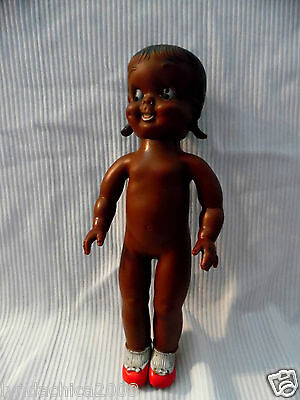 Vintage 195O'S TOPSY Vinyl Black AMERICANA DOLL By RELIABLE Toys CANADA