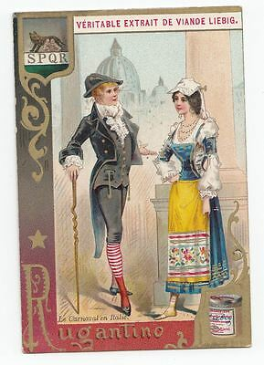 1 Liebig trade cards - Carnival masks - Roma - san311belb- iss in 1891
