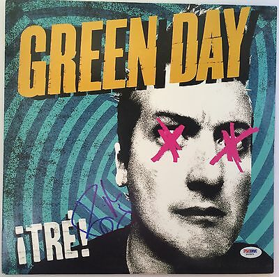 Billie Joe Armstrong Green Day Signed Record Album Vinyl Tre Autographed PSA/DNA