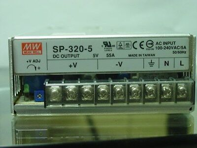 Mean Well  SP-320-5 5VDC 55AMP 100/240VAC 50/60HZ - MEAN WELL Power Supply
