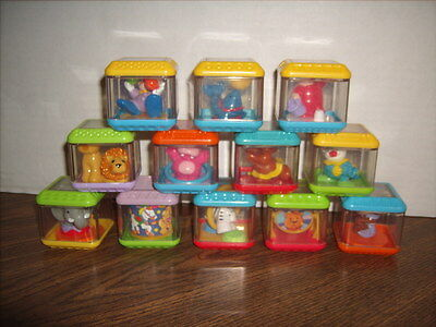 12 FISHER PRICE Peek A Blocks CIRCUS with 5 Twirling Blocks