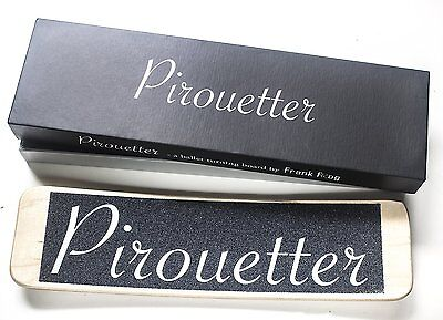 Pirouetter | Black Ballet Turning Board | Sturdy Canadian Maple Wood, Gift Box |