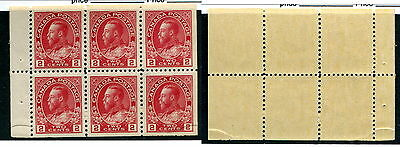 MNH 2c KGV Admiral Booklet Pane #106a (Lot #7474)