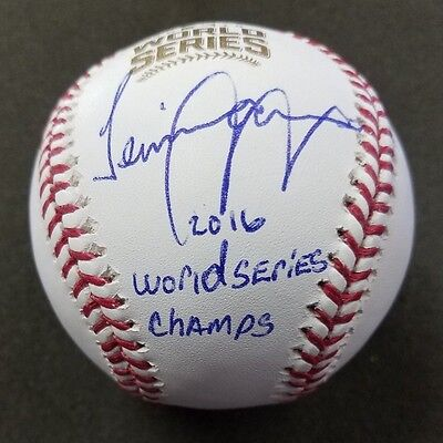 "Jeimer Candelario ""2016 Ws Champs"" Cubs 2016 World Series Baseball Beckett Coa"