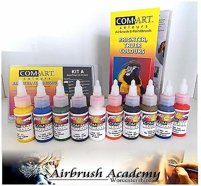 Airbrush Paint Com-Art Airbrush Colors Kit A - Opaque Primary - COM-8-100-1
