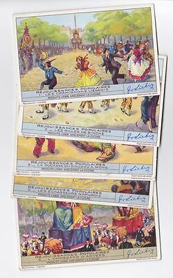 Popular Folklore - 6 Liebig trade cards - san1440bel issued in 1942