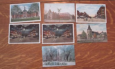 Olean, NY - Lot of 7 Vintage Postcards 1907 to 1922