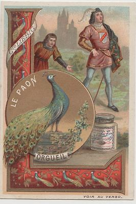 1 Liebig trade cards - The Peacock-proud - san325beld- iss in 1891