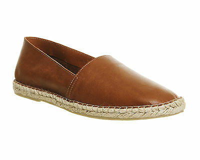Mens Office Beach Espadrille New Tan Leather Espadrille Size UK 8 * Ex Display