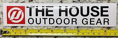 """8"""" The House Board Shop Sticker Decal Red Snowboard Ski Snow"""