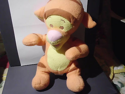 "Pre-Owned Fisher Price baby Tigger stuffed toy - 10"" high - soft"