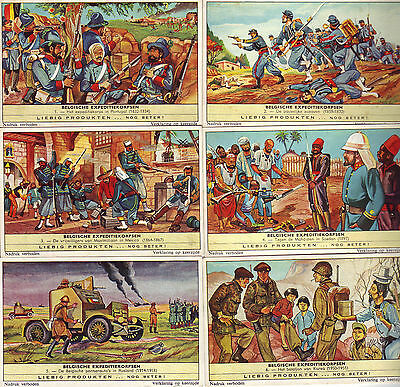 Complete Set of Liebig Cards 'Belgian Army Overseas' in very good condition