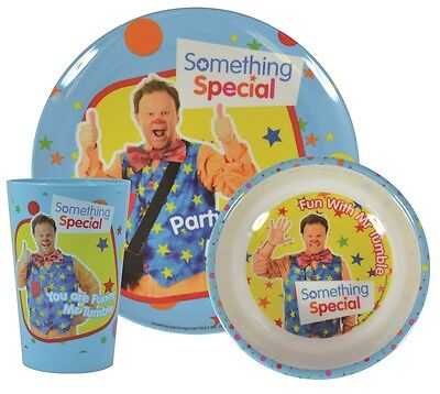 Something Special | Mr Tumble 3pc Melamine Tumbler, Bowl & Plate Mealtime Set