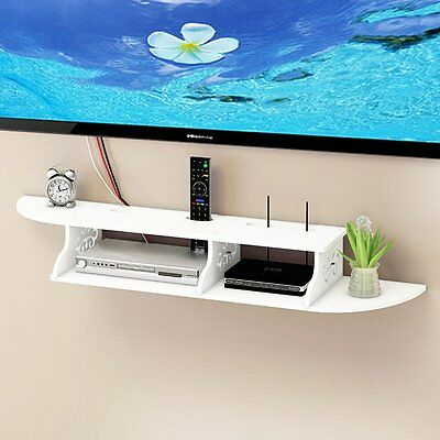 2 Tier Floating Shelves Chic Wall Mount for CD TV DVD Book Display Storage