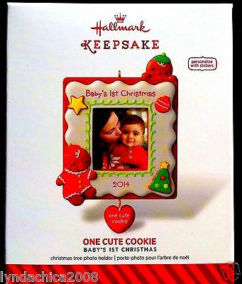 2014 Hallmark Keepsake Ornament  ONE CUTE COOKIE - Brand new in Box!