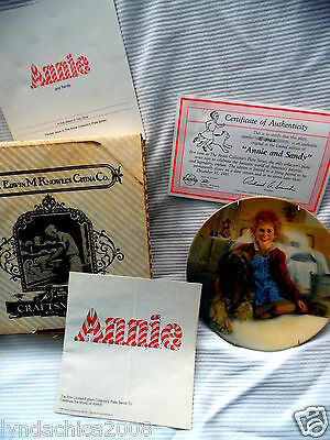 Vintage Little Orphan Annie KNOWLES COLLECTOR PLATE Annie & Sandy 1982