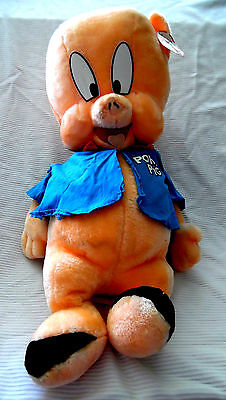 HUGE VINTAGE PORKY PIG PLUSH TOY By Ganz 1994 (24 INCHES)