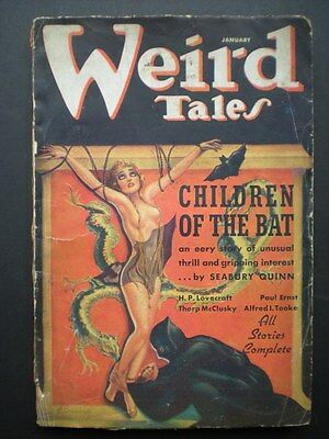 WEIRD TALES (1937) gd condition MARGARET BRUNDAGE BONDAGE COVER, H. P. LOVECRAFT