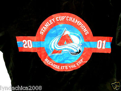 NHL COLORADO AVALANCHE Shirt Licensed By NHL & Coors Light (Size LARGE)