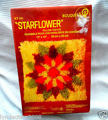 STARFLOWER Latch Hook Kit #141 By Bouquet (12 X 12 INCHES)