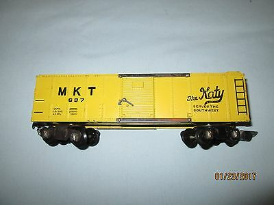 American Flyer #637 MKT Katy Boxcar- Excellent Minus Condition.