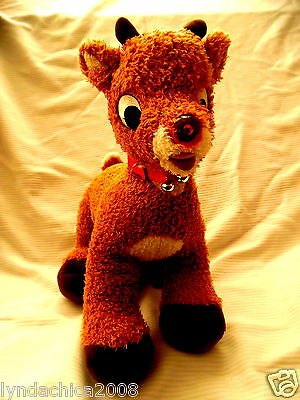 Large Talking RUDOLPH THE RED NOSED REINDEER Plush Toy ***Works amazing***