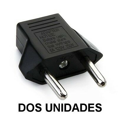 Enchufe Adaptador Us/eu Dos Unidades Conector Us China A Eu