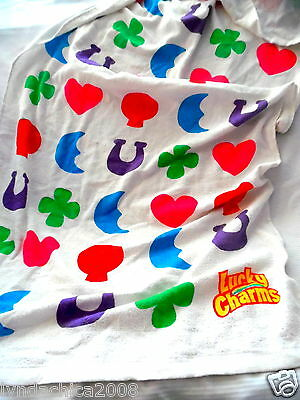 LUCKY CHARMS Cereal Promotional Bath Towel General Mills