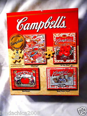 Vintage CAMPBELL'S PUZZLES (4 Puzzles Included) COMPLETE