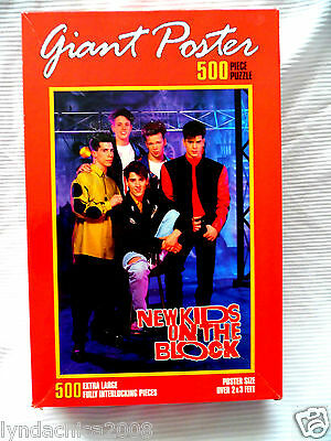 HUGE Vintage NKOTB Poster Puzzle New Kids on the Block 1991 ***(500 PIECES)***
