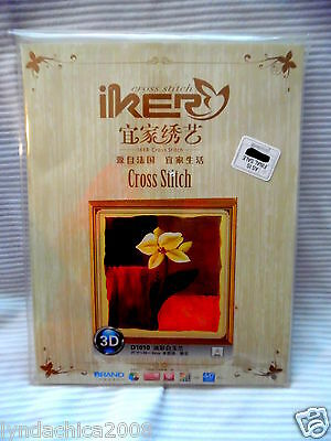 FLOWER Counted Cross Stitch Kit By IKER ***SEALED***