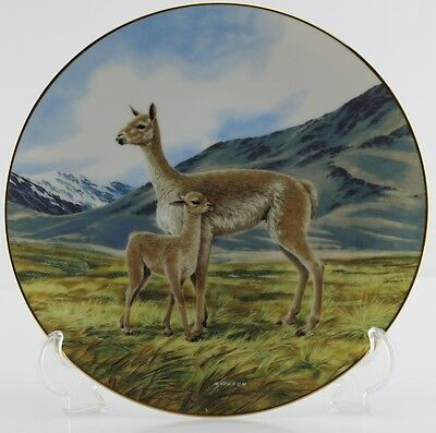 """Plate #9 The Vicuna """"Last of Their Kind-The Endangered Species Collection"""" NEW!"""
