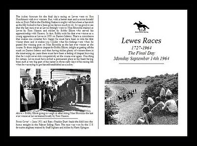 Horse Racing Collectors Race Card - Lewes Races Final Day 1964