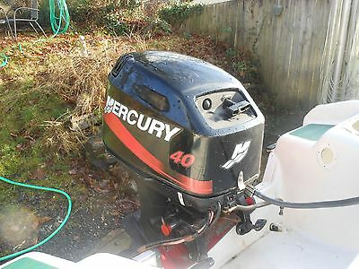40hp 2 stroke mercury short shaft electric start 4 inflatable rib dory speedboat