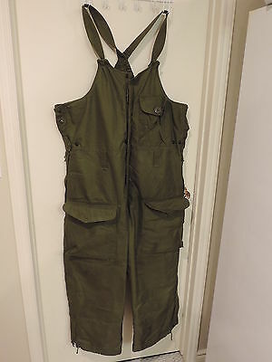 Canadian forces winter cold weather overall pants size large