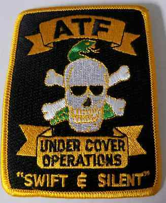 DOJ ATF Bureau of Alcohol Tobacco Firearms and Explosives Under Cover Ops Patch