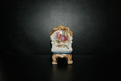 vintage Porcelain Miniature chair made in Occupied Japan