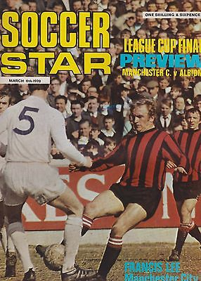 Soccer Star 6 March 1970  ~ League Cup Final Manchester City West Bromwich