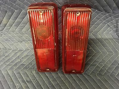 67 68 69 70 71 72 Chevy Suburban Panel Tail Lamp Lights Lenses