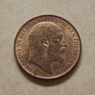 Bronze Half Penny 1902 Coin King Edward Vii Uncirculated (Lustre)
