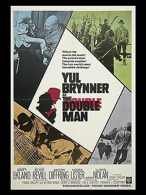 """The Double Man 16"""" x 12"""" Reproduction Movie Poster Photograph"""